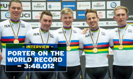 Alex Porter on team pursuit world record